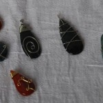 Wire-wrapped stone pendants